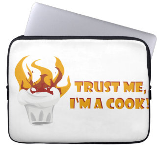 Trust me i'm a cook! laptop computer sleeve