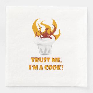 Trust me i'm a cook! paper dinner napkin