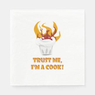 Trust me i'm a cook! paper napkin