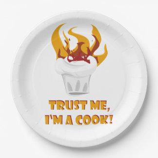 Trust me i'm a cook! paper plate