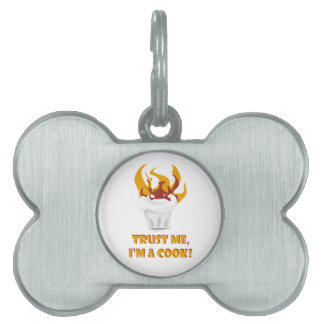 Trust me i'm a cook! pet ID tag