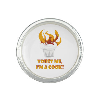 Trust me i'm a cook! photo ring