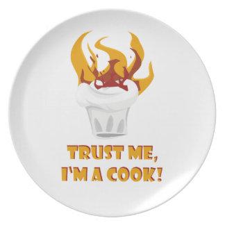 Trust me i'm a cook! plate