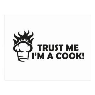 Trust me i'm a cook! postcard