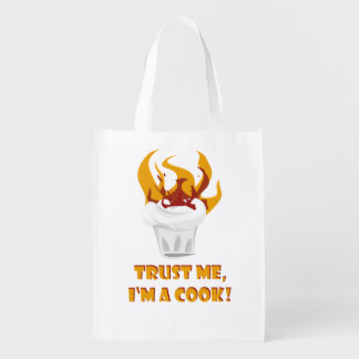 Trust me i'm a cook! reusable grocery bag