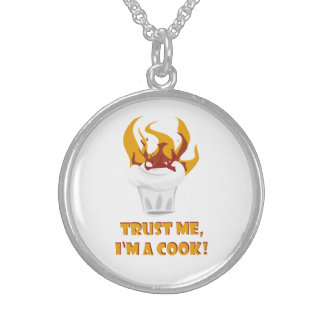 Trust me i'm a cook! sterling silver necklace