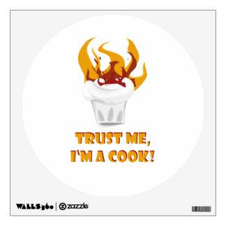 Trust me i'm a cook! wall sticker