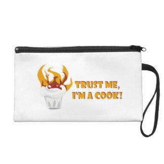 Trust me i'm a cook! wristlet purse