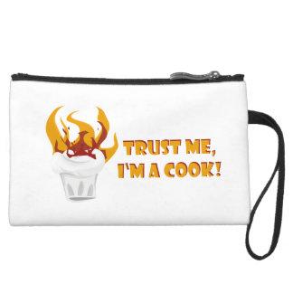 Trust me i'm a cook! wristlet purses