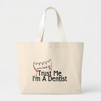 Trust Me Im A Dentist 3 Large Tote Bag