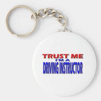 Trust Me I'm A Driving Instructor Basic Round Button Keychain