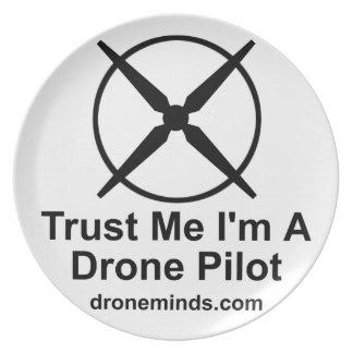 Trust Me I'm A Drone Pilot Party Plate