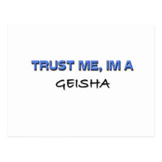Trust Me I'm a Geisha Postcard