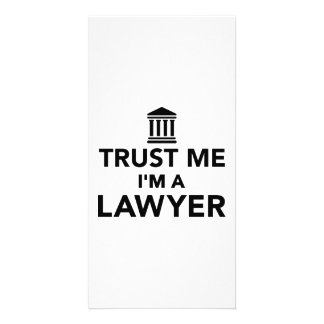 Trust me I'm a Lawyer Customized Photo Card