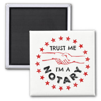Trust Me, I'm a Notary Handshake Magnet