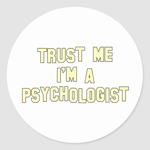 Trust Me I'm a Psychologist Sticker