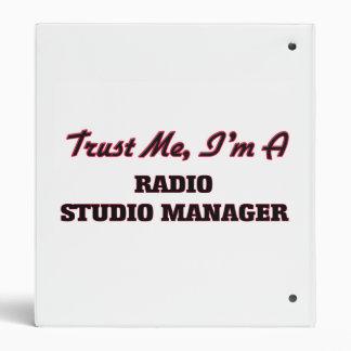 Trust me I'm a Radio Studio Manager Vinyl Binder