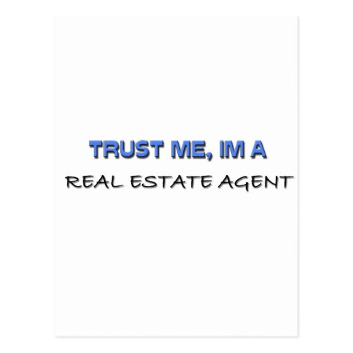 Trust Me I'm a Real Estate Agent Postcards