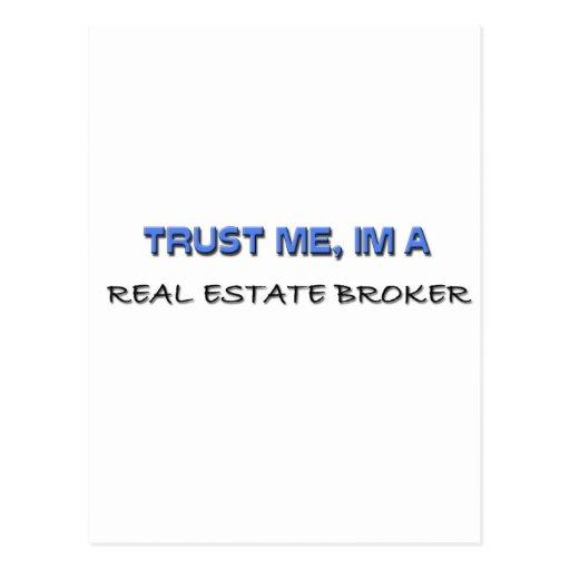 Trust Me I'm a Real Estate Broker Post Card