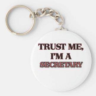 Trust Me I'm A SECRETARY Keychain