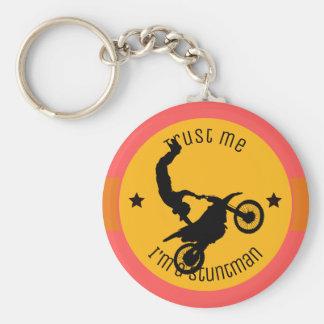 Trust me, I'm a stuntman Keychain