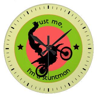 Trust me, I'm a stuntman Large Clock