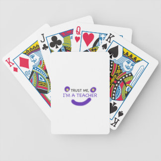 Trust Me, I'm A Teacher Bicycle Playing Cards