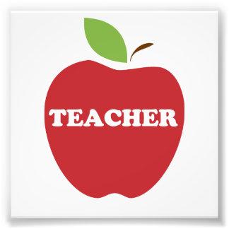 Trust Me, I'm a Teacher Red Apple Art Photo