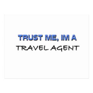 Trust Me I'm a Travel Agent Post Card