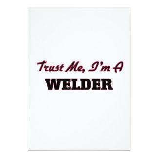"""Trust me I'm a Welder 5"""" X 7"""" Invitation Card"""