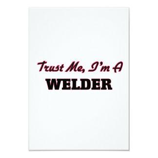 """Trust me I'm a Welder 3.5"""" X 5"""" Invitation Card"""
