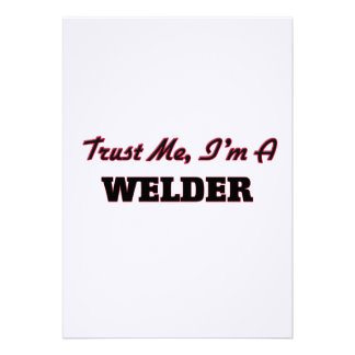 Trust me I'm a Welder Personalized Announcement