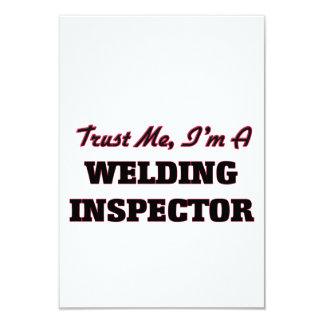 "Trust me I'm a Welding Inspector 3.5"" X 5"" Invitation Card"
