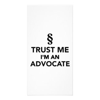 Trust me I'm an advocate Photo Card