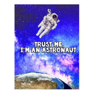 Trust Me I'm an Astronaut Postcard