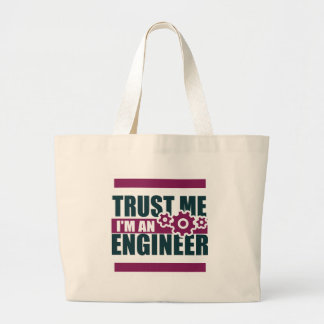 trust me i'm an engineer 3 large tote bag