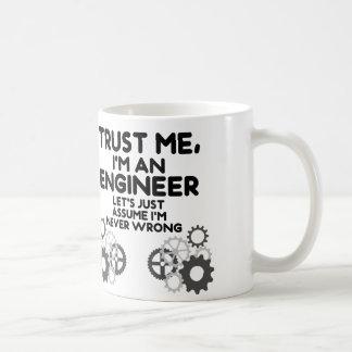 Trust Me, I'm an Engineer Funny Basic White Mug