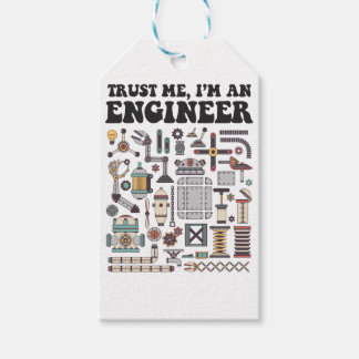 Trust me, I'm an engineer Pack Of Gift Tags