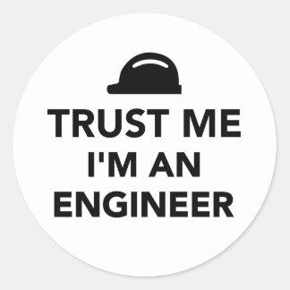 Trust me I'm an Engineer Round Sticker
