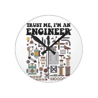 Trust me, I'm an engineer Wallclock