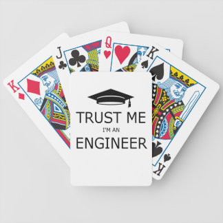 Trust me I'm an to engineer (mortarboard) .pdf Bicycle Playing Cards