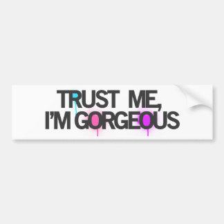 Trust me, im GORGEOUS Bumper Sticker