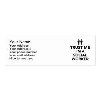 Trust me I'm Social Worker Business Card