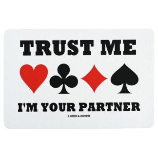 Trust Me I'm Your Partner Four Card Suits Bridge Floor Mat