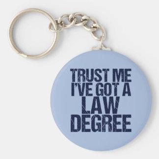 Trust Me Lawyer Keychain