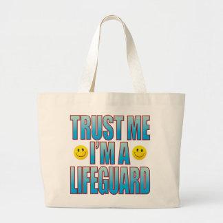 Trust Me Lifeguard Life B Large Tote Bag
