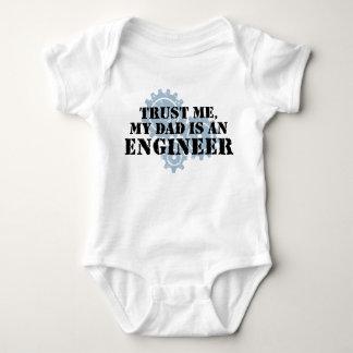 Trust Me My Dad is an Engineer Baby Bodysuit