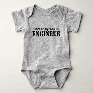 Trust Me My Dad's an Engineer Baby Bodysuit