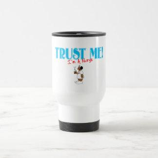 Trust Me RN Nurse with needle Mugs