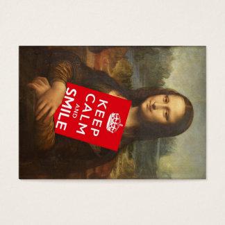Trust Mona Lisa's Motto Business Card